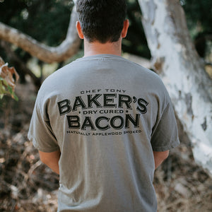 Baker's Bacon merch - Grey T-shirt