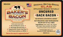 Load image into Gallery viewer, Baker's Bacon Uncured Back Bacon Slab BB4000 label