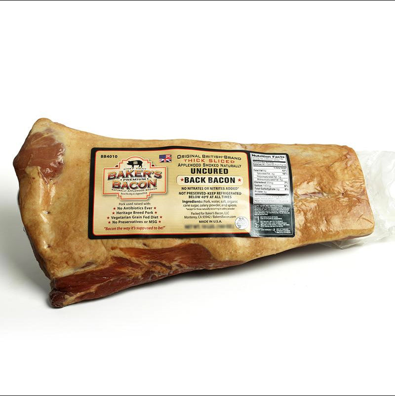 Baker's Bacon Uncured Back Bacon Slab BB4000