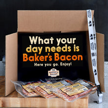 Load image into Gallery viewer, Baker's Bacon Gift Box - What your day needs is Baker's Bacon