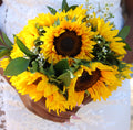 Sun Kissed Sunflower Bouquet & Boutonniere | #MarriedInVegas Studios