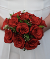 Red Rose Bouquets & Boutonnieres | #MarriedInVegas Studios
