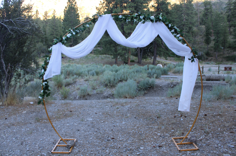#GoldenWeddingArch