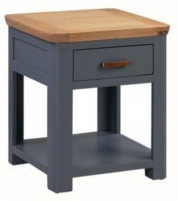 Truro Midnight Blue End Table with Drawer