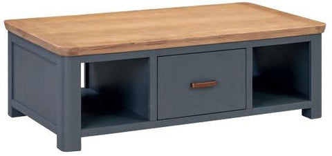 Truro Midnight Blue Large Coffee Table with Drawer