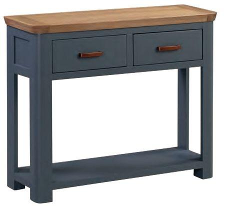 Truro Midnight Blue Large Console with Drawers