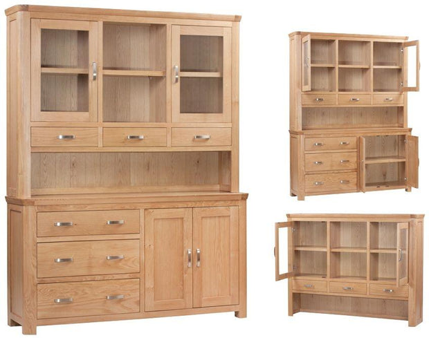 Truro Oak Large Buffet Hutch