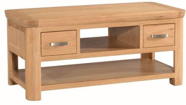 Truro Oak Standard Coffee Table with Drawers