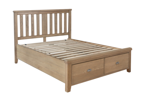 Havana Wooden Bed with Headboard and Drawer Footboard Set
