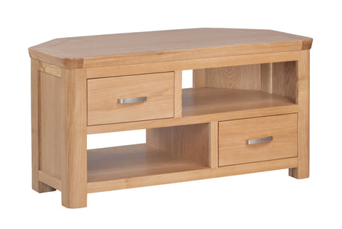 Truro Oak Corner TV Unit