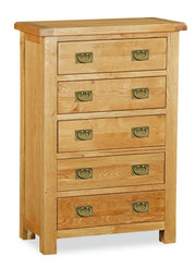 Dartmoor 5 Drawer Chest Of Drawers
