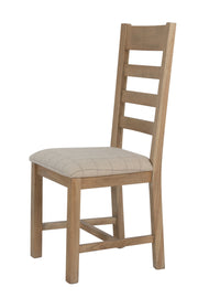 Havana Wooden Slatted Dining Chair (Natural Check)