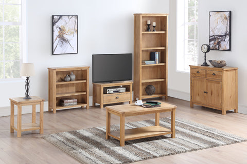 Kilmore Oak Tall Wide Bookcase