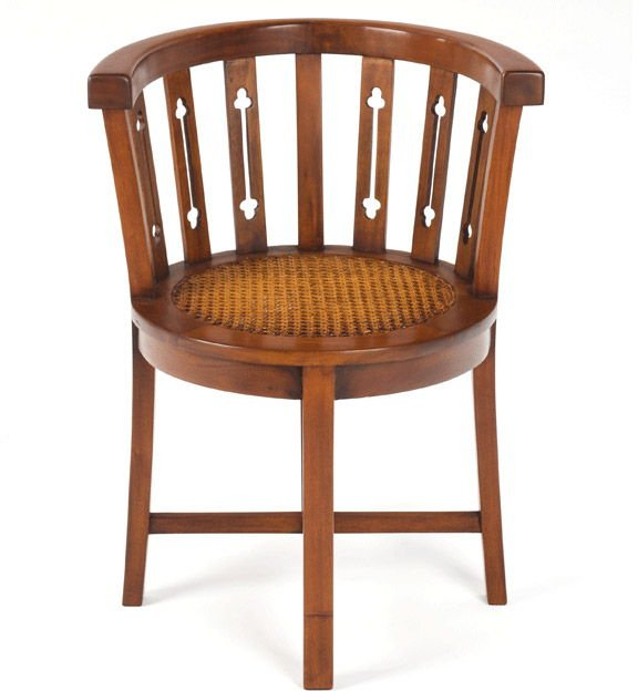 Mahogany Rattan Tub Chair