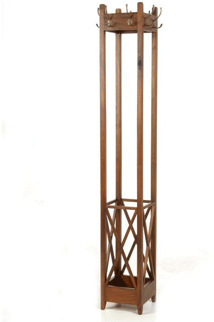 Mahogany Square Coat Rack