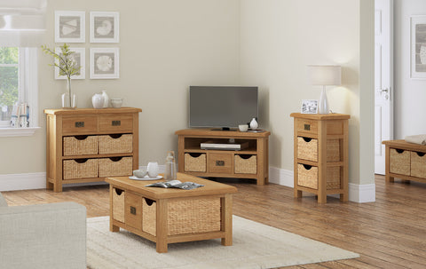 Dartmoor Large TV Unit With Baskets