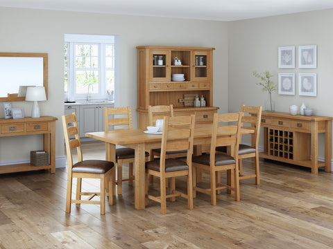Dartmoor Slatted Dining Chair With Wooden Seat