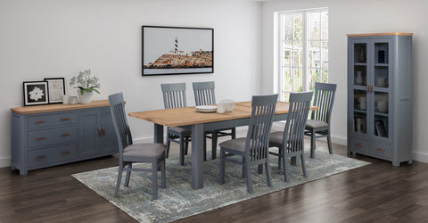Truro Midnight Blue 4'0 Extension Dining Set (4 Chairs)