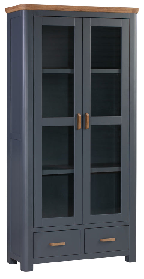 Truro Midnight Blue Display Cabinet