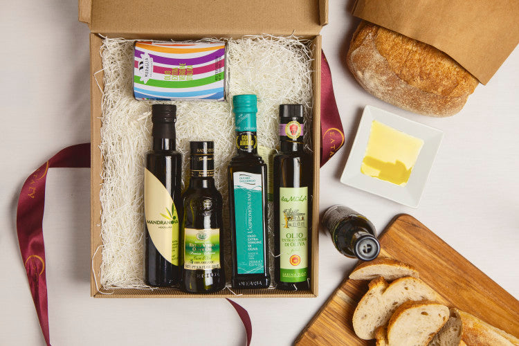Eataly gift basket with olive oil