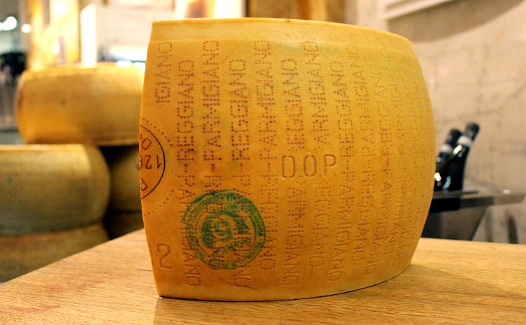 Chunk of Parmigiano Reggiano cheese