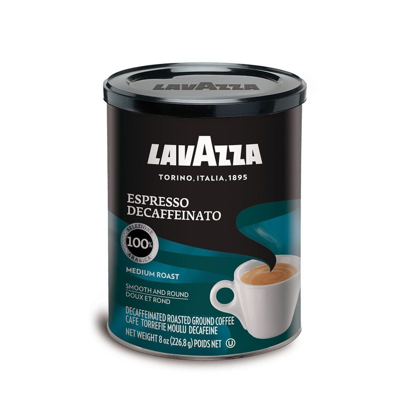 Ground Decaffeinated Espresso Coffee In Tin