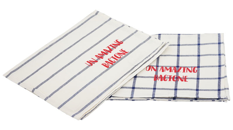 Towel Cotton Set  - Checked And Striped