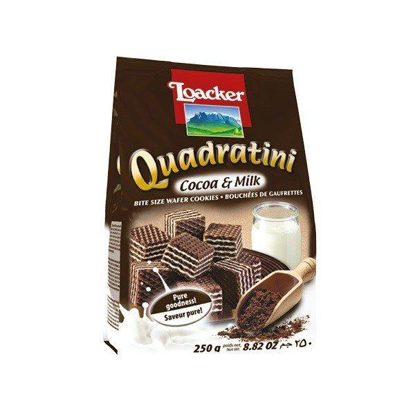 Quadratini Cocoa-Milk Wafers