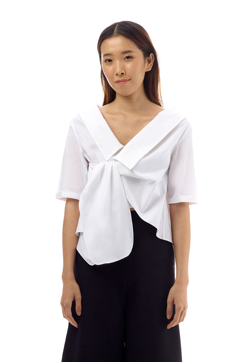 Fiona Cotton Wrap Blouse