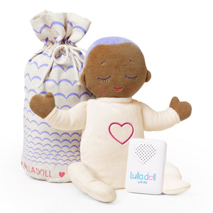 Lulla doll Lilac. Sleep solution for babies and toddlers. Helping them fall asleep easier and stay asleep for longer.