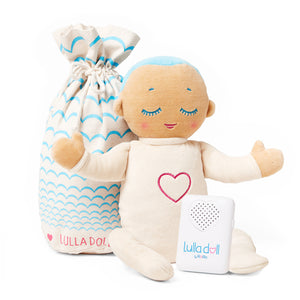 Lulla doll Sky Sleep solution for babies and toddlers. Helping them fall asleep easier and stay asleep for longer.