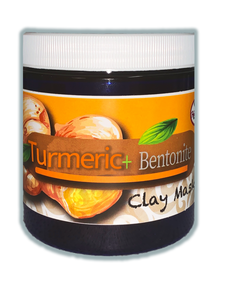 Turmeric Restore Clay Mask | Skin Balancing Mask with Turmeric and 100% Natural Calcium Bentonite Clay | Deep Pore Cleansing Facial & Body Mask | All-Natural Face Mask for Acne | Remove Toxins | Circulation Booster | Detox Clay Face Mask Made in USA - Habbie Enterprise