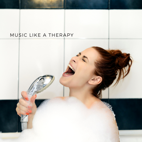 Singing shower enjoyment mindfulness selfcare like a therapy
