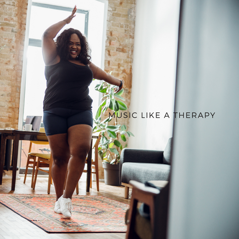 dancing music like a therapy mindfulness selfcare stress-free