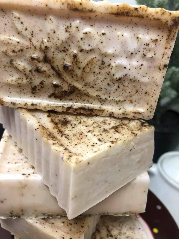 Coffee & ACAI Soap. Coffee is rich in antioxidants, not to mention, this soap is a great exfoliant. I added acai oil (ah-sigh-EE)