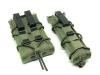 hsgi pistol, rifle, smg taco with molle to belt loop adapters installed