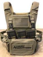 Crye SPC ranger green plate carrier with placard extenders installed