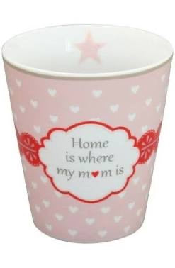 Krasilnikoff Happy Mug Porzellan Becher Home is where my mom is