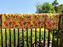 Load image into Gallery viewer, Yellow Rose Kantha Quilt