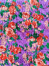 Load image into Gallery viewer, Purple Rose Kantha Quilt