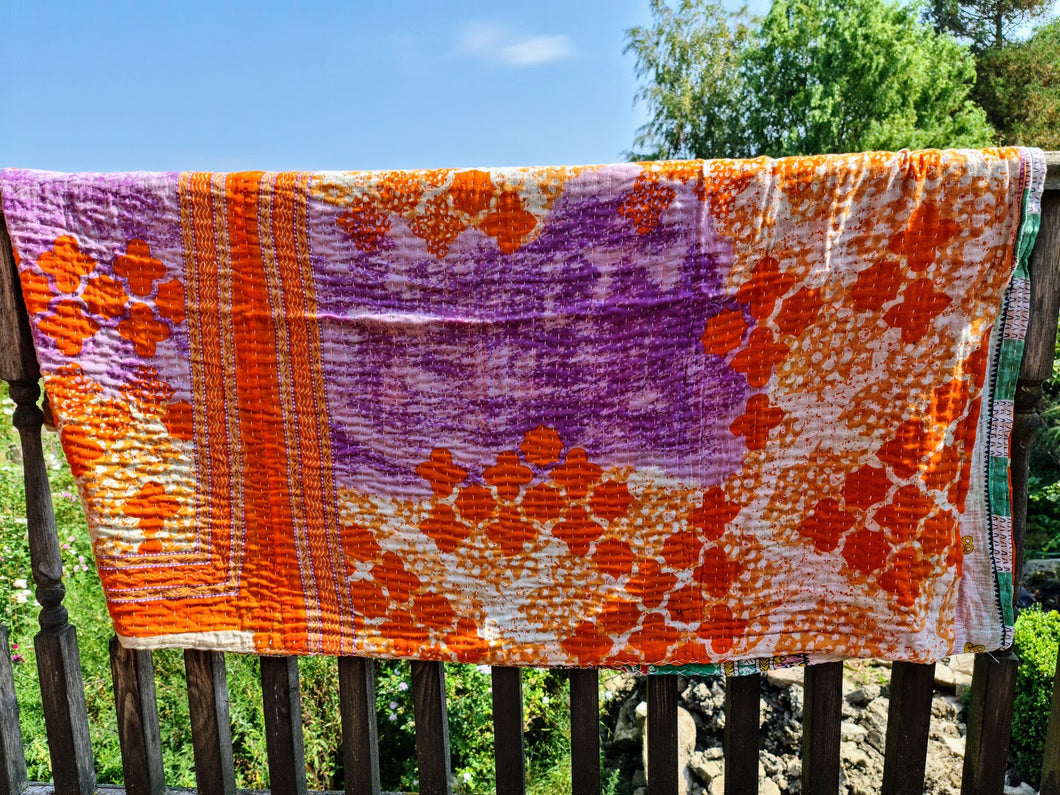 Orange and Purple Quilt