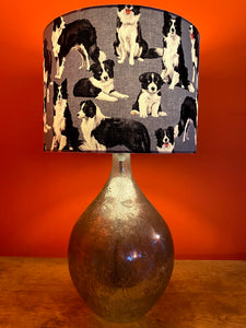 Border Collie Lampshade