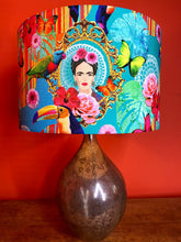 Load image into Gallery viewer, Brightly coloured Frida Kahlo large lampshade great simple way to add colour to your home