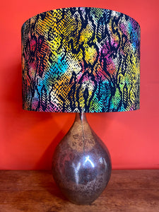 Snake skin pattern lampshade with rainbow colour for a ceiling or lamp fitting