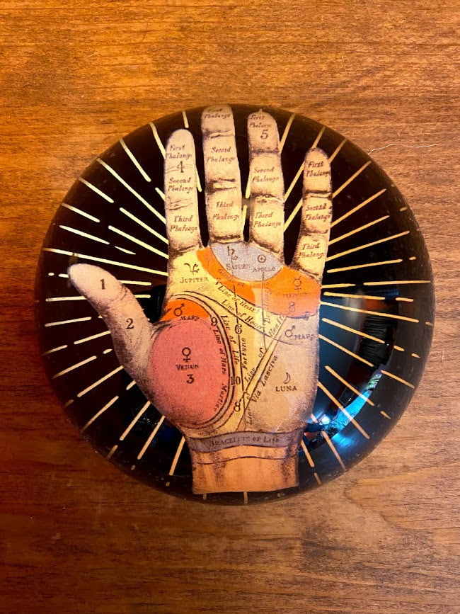 Palmistry Glass Paper Weight