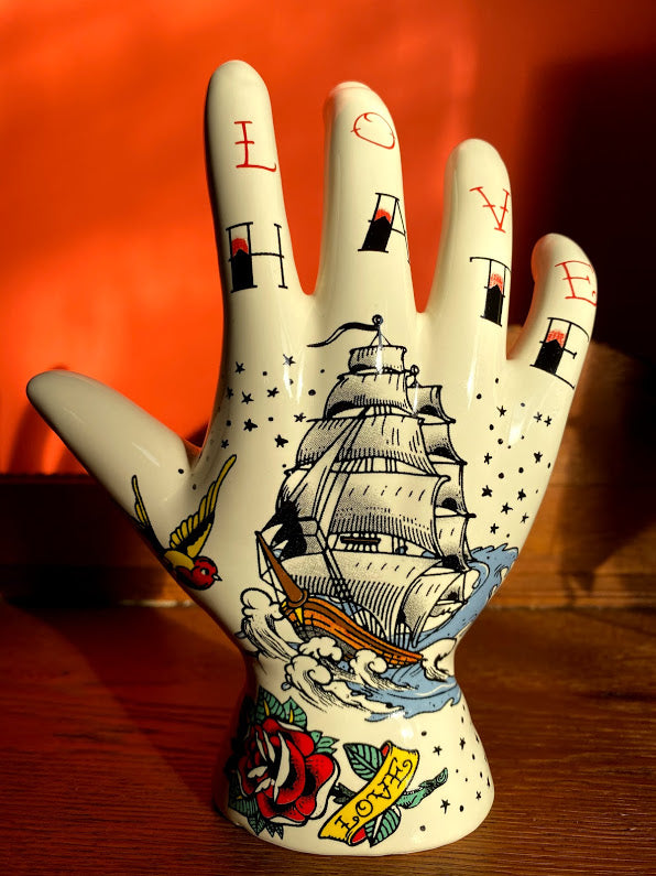 Palmistry Tattoo Hand - Hate