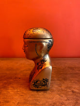 Load image into Gallery viewer, Phrenology Head Storage Jar - Gold - Small