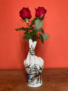 Tattoo Palmistry Hand Vase - Victory & Faith - Back In Stock Soon
