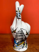Load image into Gallery viewer, Tattoo Palmistry Hand Vase - Victory & Faith - Back In Stock Soon