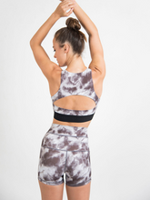 Load image into Gallery viewer, LUNA shorts ethical activewear Maha Yogi made from upcycled deadstock fabrics tie-dye